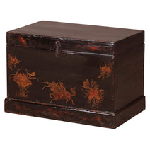 Black Lacquer Painted Opera Trunk