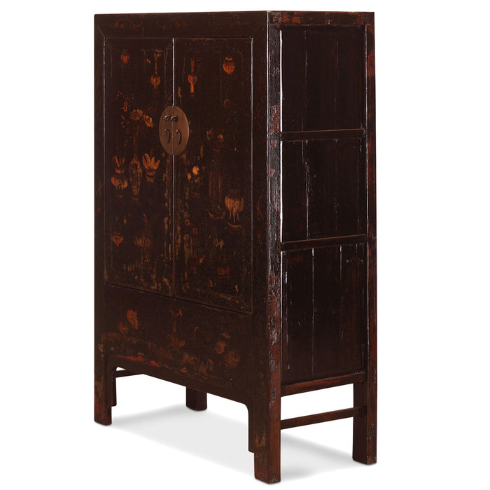 Black Painted Shanxi Wedding Cabinet