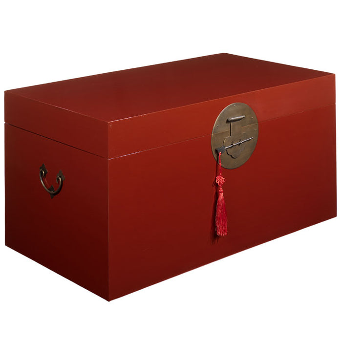 Blanket Trunk, Red Lacquer