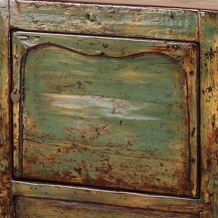 Chinese Green Lacquer Sideboard