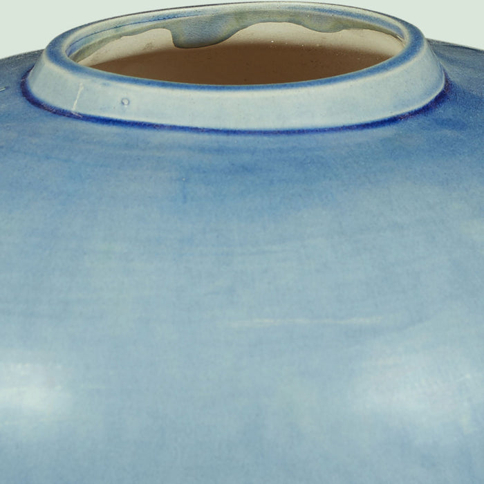 Large Round Blue Jar