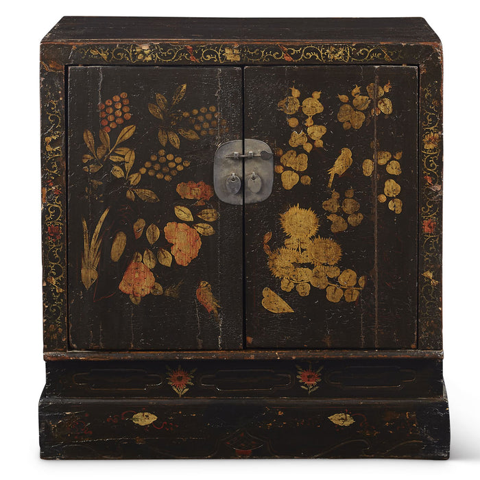 Antique Chinese Painted Book Cabinet