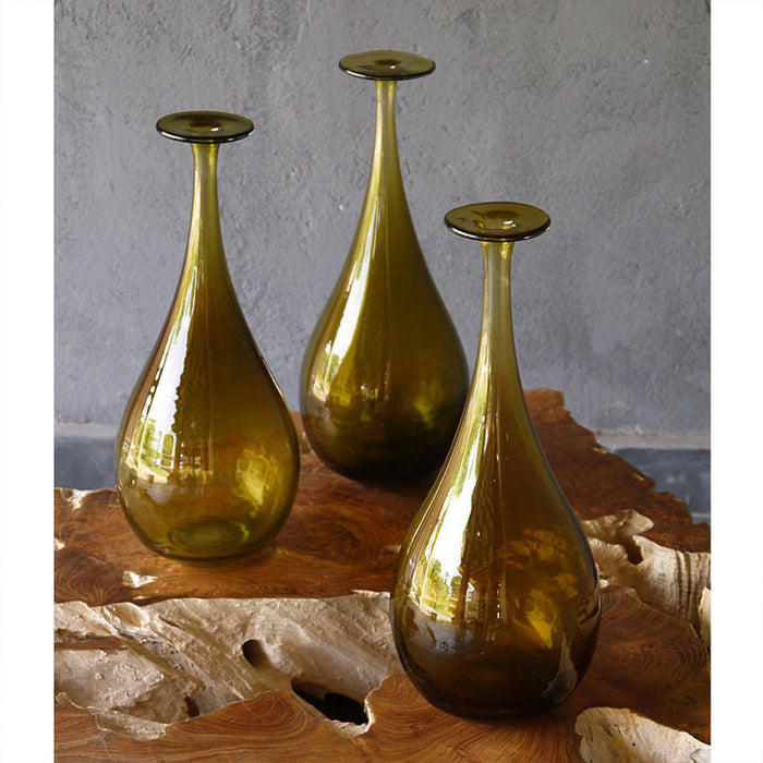 Brown Glass Bud Vase