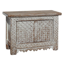 Carved Pattern Side Cabinet
