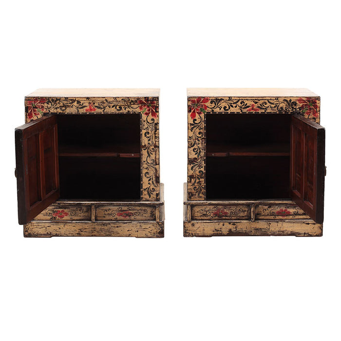 Pair of Cream Painted Bedside Cabinets