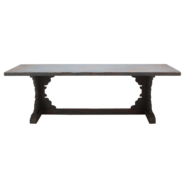 Distressed Blue Dining Table