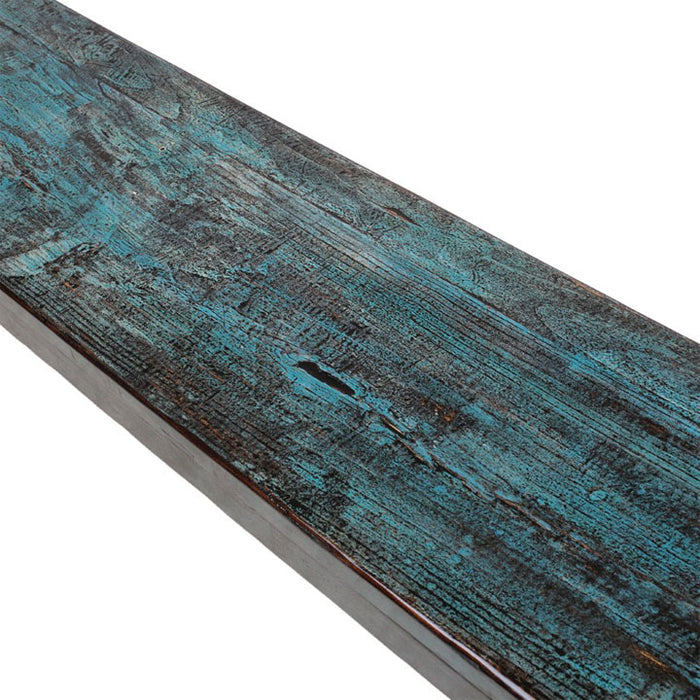 Long Bench in Blue Lacquer