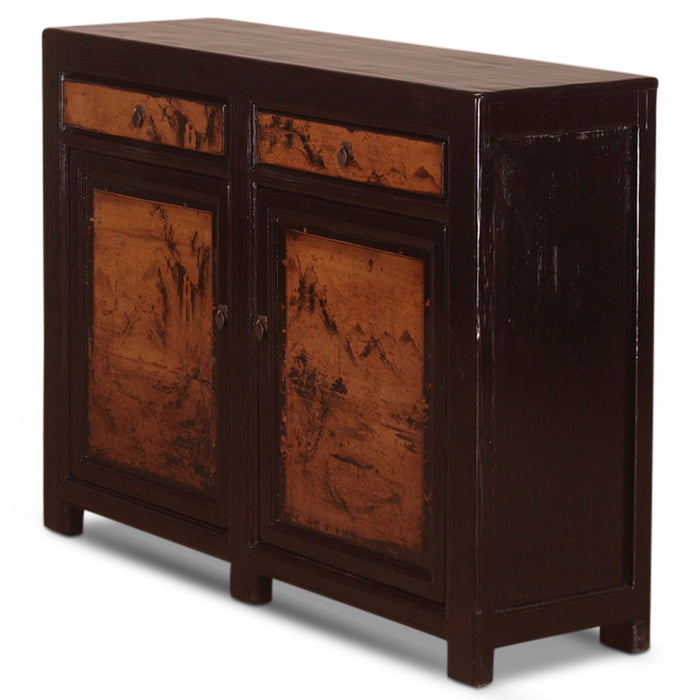 Black and Sepia Painted Sideboard