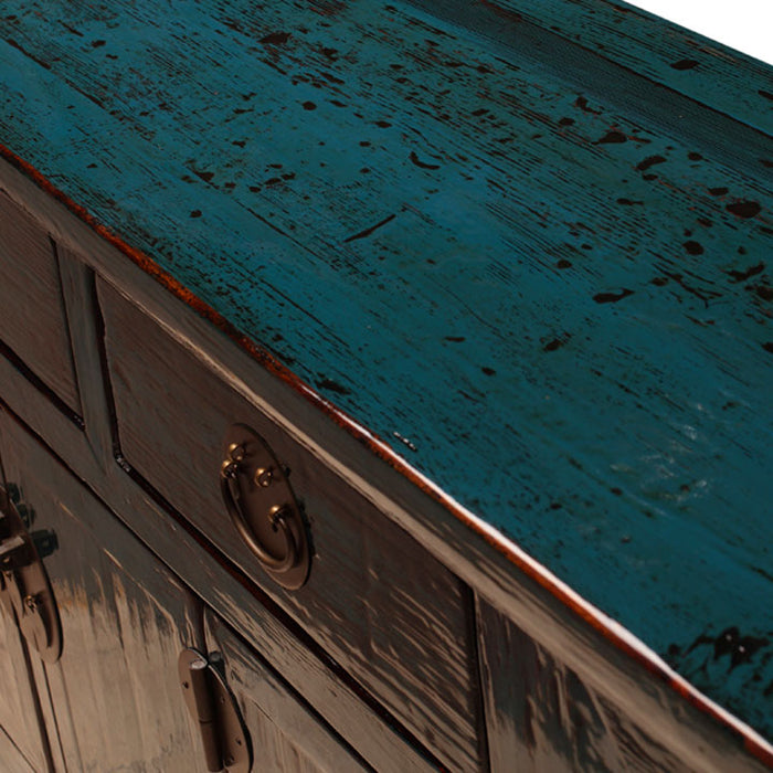 Blue Lacquer Altar Cabinet