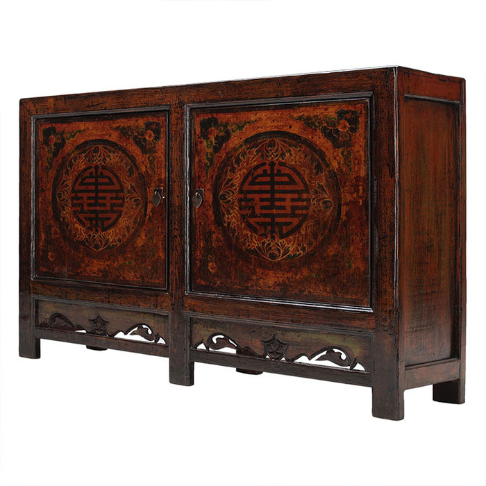 Painted Sideboard with Good Luck Symbols