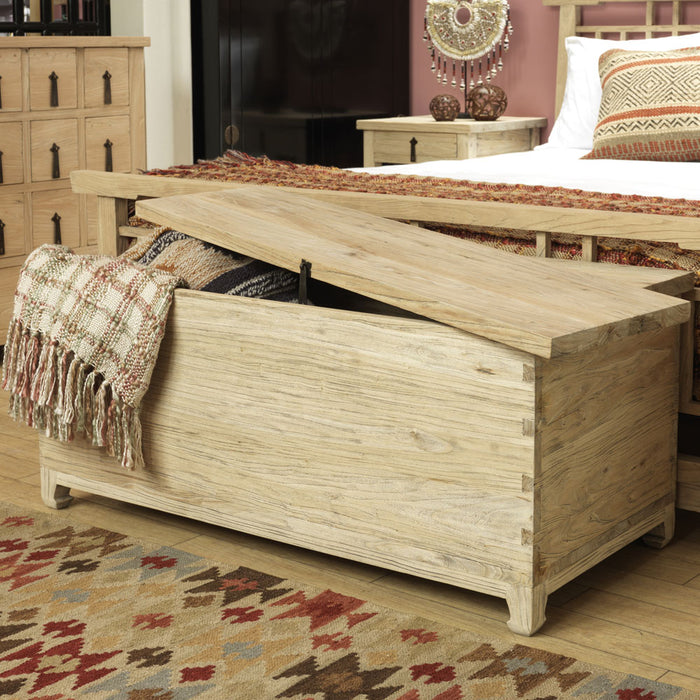 Country Blanket Chest, Reclaimed Elm Wood