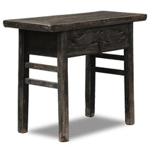 Carved Single Drawer Table, Antique Chinese