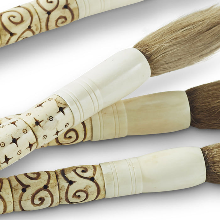 Carved Bone Calligraphy Brush