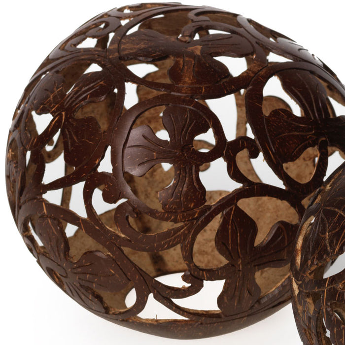 Carved Coconut Ball, Large