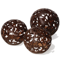 Carved Coconut Ball, Small