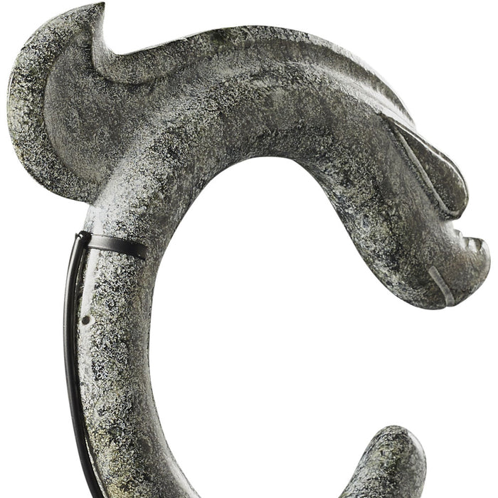 Carved Dragon on Stand, Grey