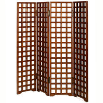 Carved Lattice Screen, Warm Elm