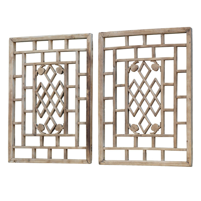 Pair of Natural Wood Panels