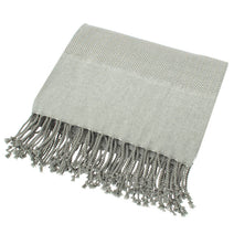 Chevron Throw, Grey