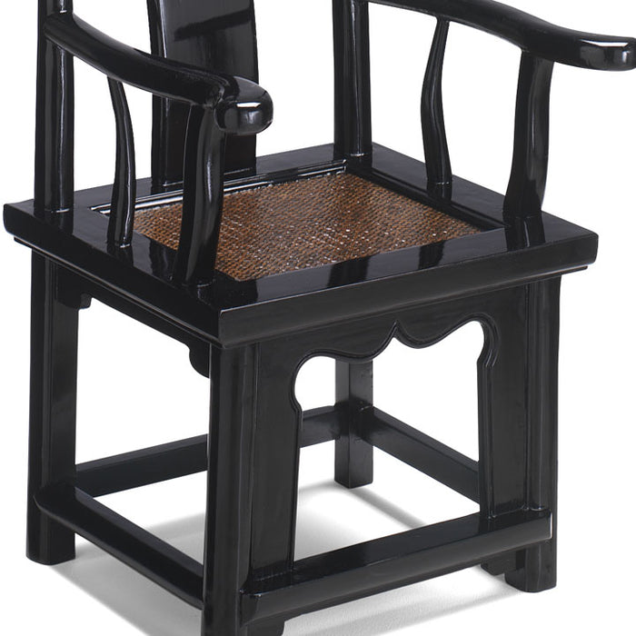 Child's Yoke-Back Armchair, Black Lacquer