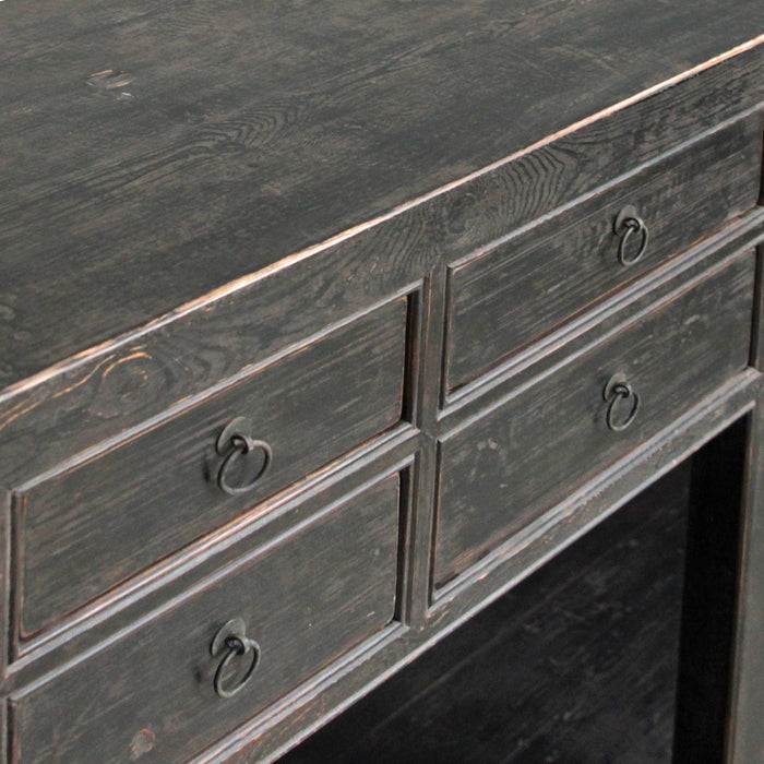 Chinese Antique Eight Drawer Pine Counter