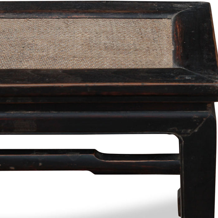 Chinese Bench with Rattan Seat