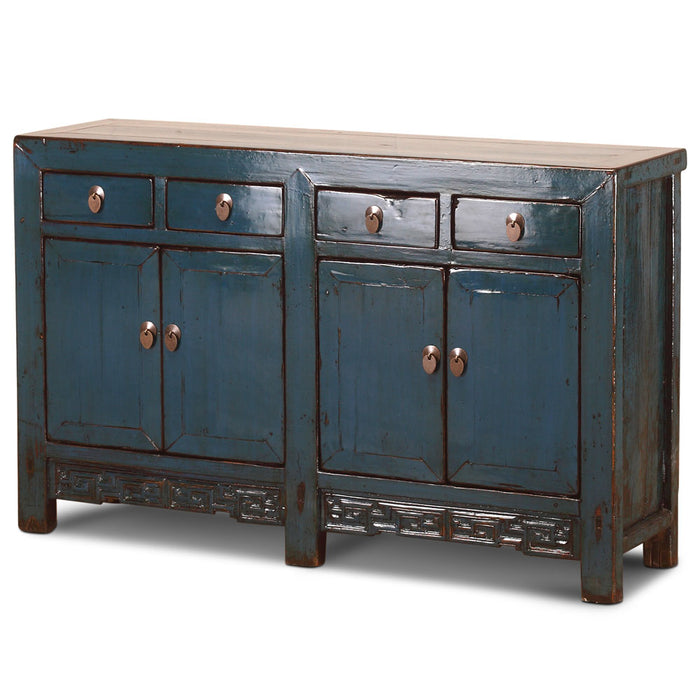 Blue Lacquer Double Sideboard
