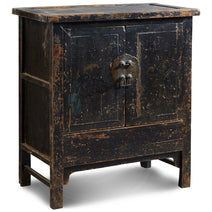 Antique Side Cabinet in Black Lacquer