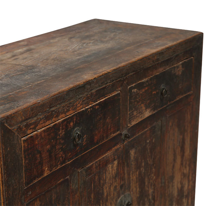 Chinese Antique Elm End Cabinet