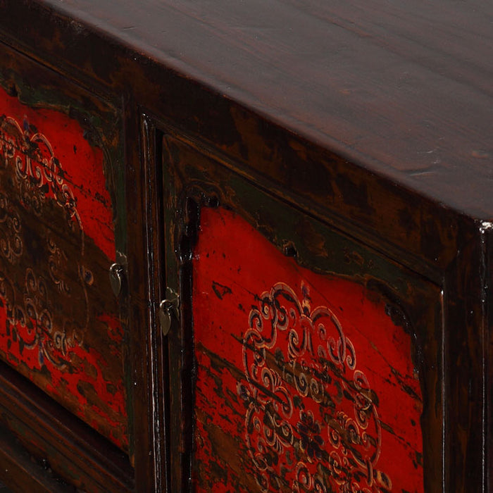 Chinese Antique Painted Grain Cabinet