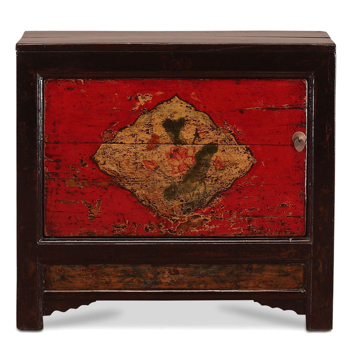 Chinese Antique Red Side Cabinet