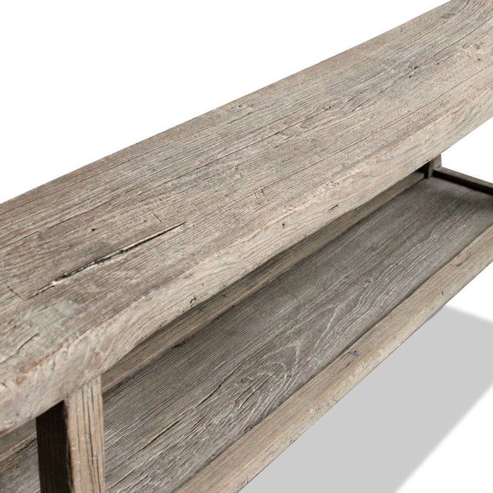 Rustic Plank Console with Shelf