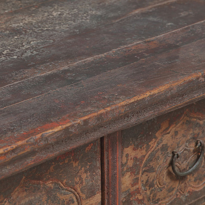 Five Drawer Carved Coffer