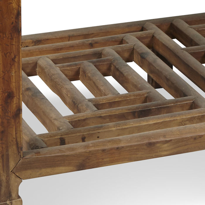 Writing Desk with Lattice Stretcher