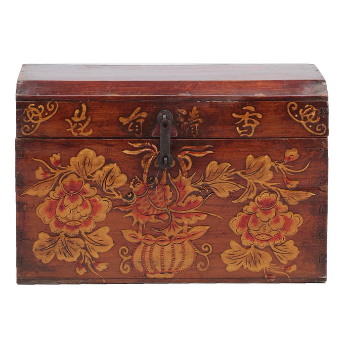 Painted Wooden Storage Box