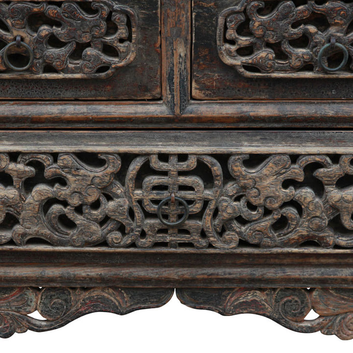 Three Drawer Carved Shaanxi Coffer