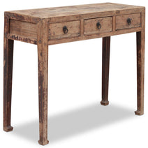 Three Drawer Chinese Elm Console