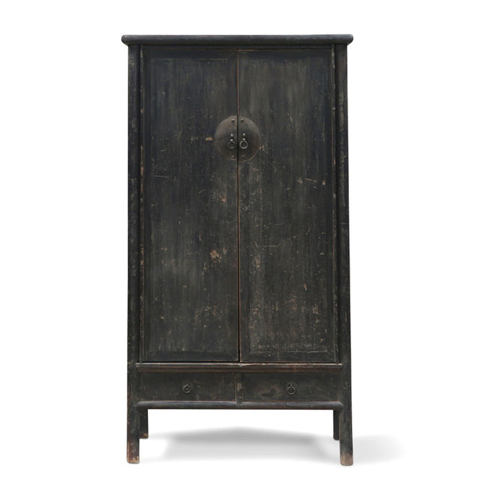 Chinese Elm Tapered Armoire