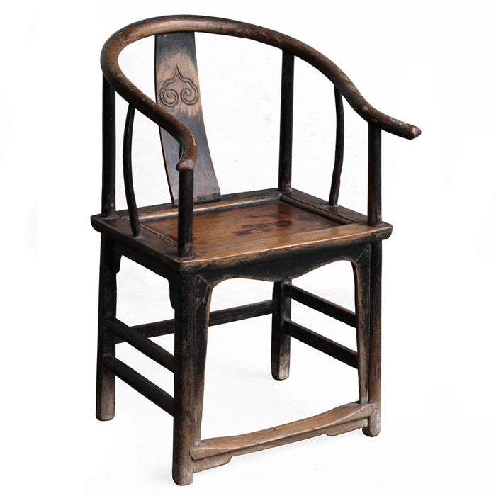 Chinese Antique Horseshoe Armchair
