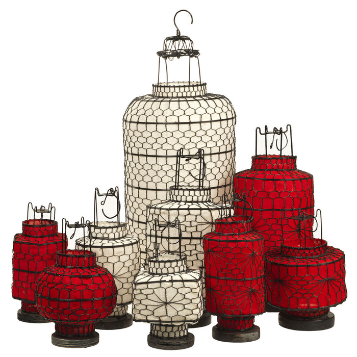 Chinese Lantern, Large Red Cylinder