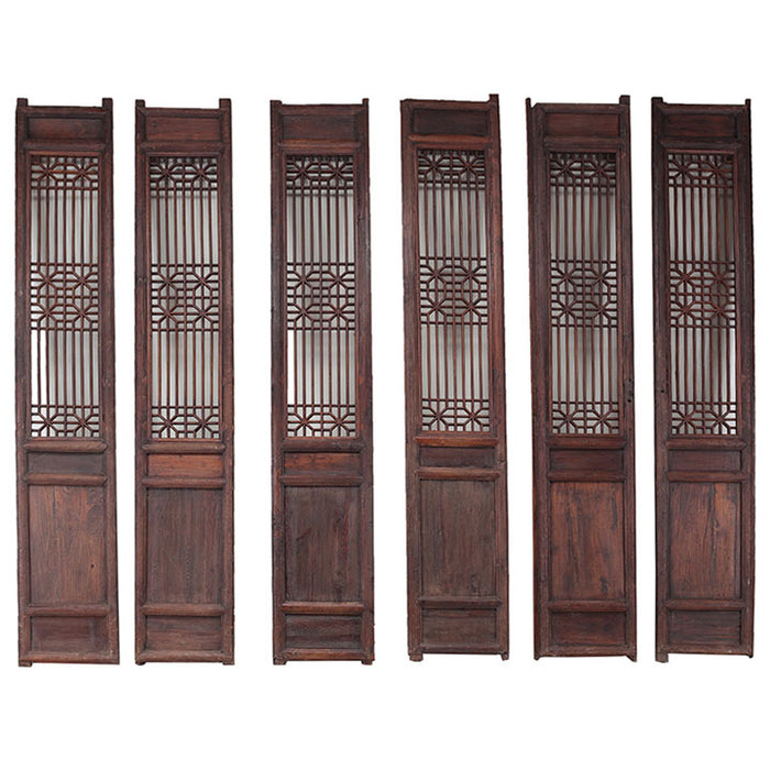 Set of Six Tall Lattice Panels