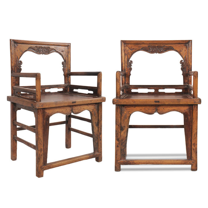 Pair of Qing Rose Chairs