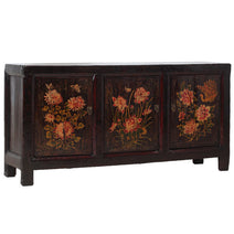 Three Door Sideboard with Flowers