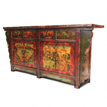 Sideboard with Hand Painted Landscapes