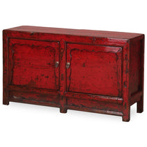 Storage Sideboard in Red Lacquer