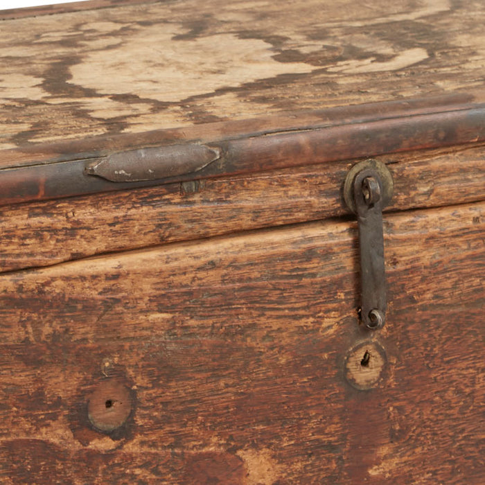Wooden Travelling Trunk, Antique Chinese
