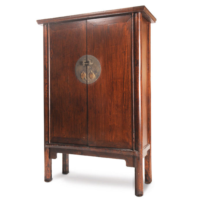 Mid Sized Walnut Armoire, Chinese Antique