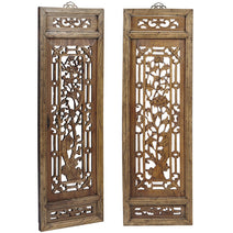 Pair of Carved Window Panels