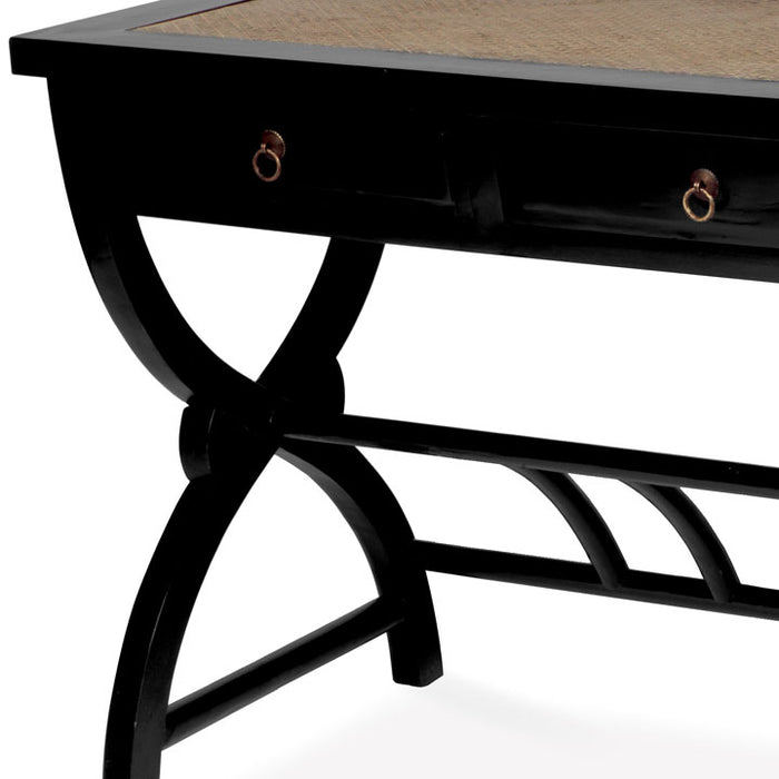 Cross Legged Desk, Black Lacquer