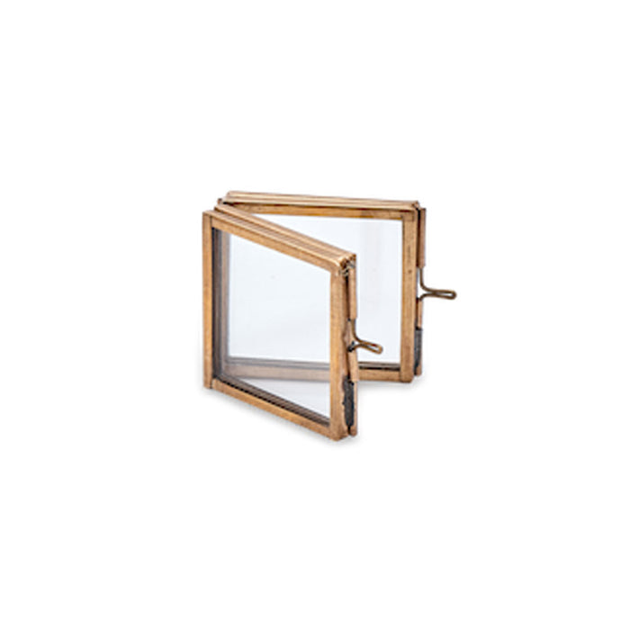 Tiny Folded Danta Frame, Antique Brass